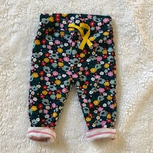 Mini Boden 6-12 mo floral pants